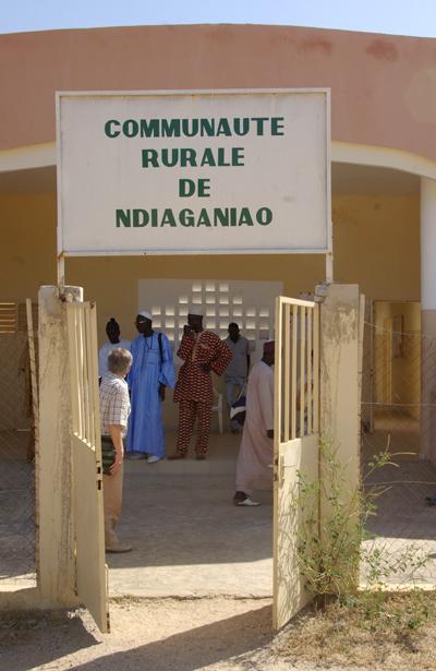 Entrée de la communauté rurale