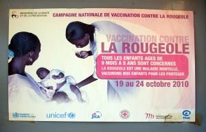 Affiche vaccination rougeole sénégal